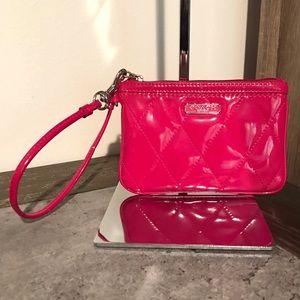 Coach Hot Pink Patent Wristlet!